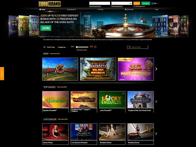 EuroGrand Casino New Hp