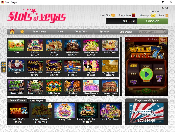 Slots Of Vegas 10.05.2021. lobby