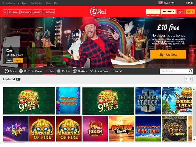 32 Red Casino Home