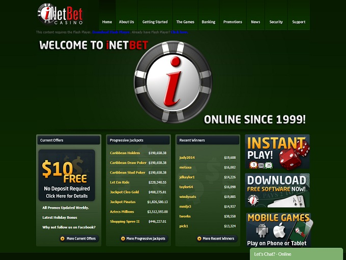 Inetbet Casino - Home - 10 Feb 2020