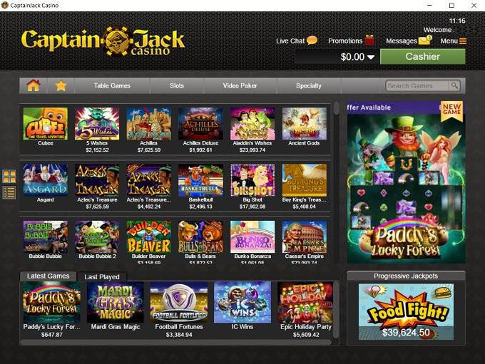 Captain Jack Casino New Lobby