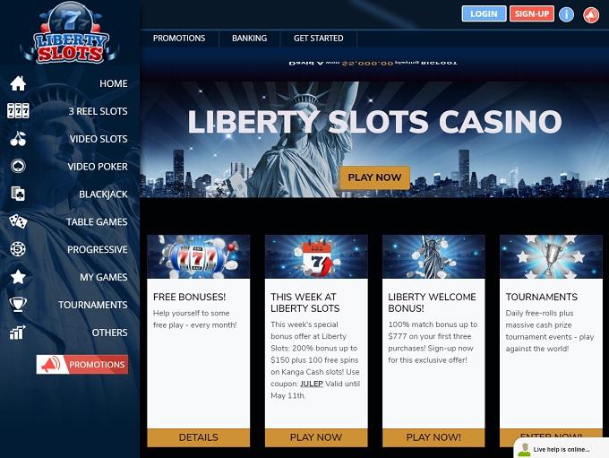Liberty Slots Casino Home