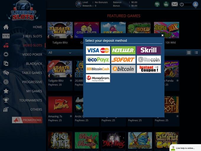 Liberty Slots Casino Bank