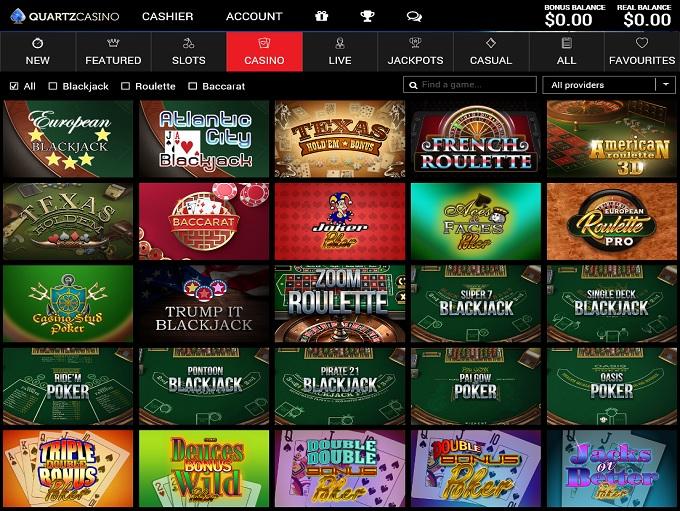 Quartz Casino 31.03.2021. lobby