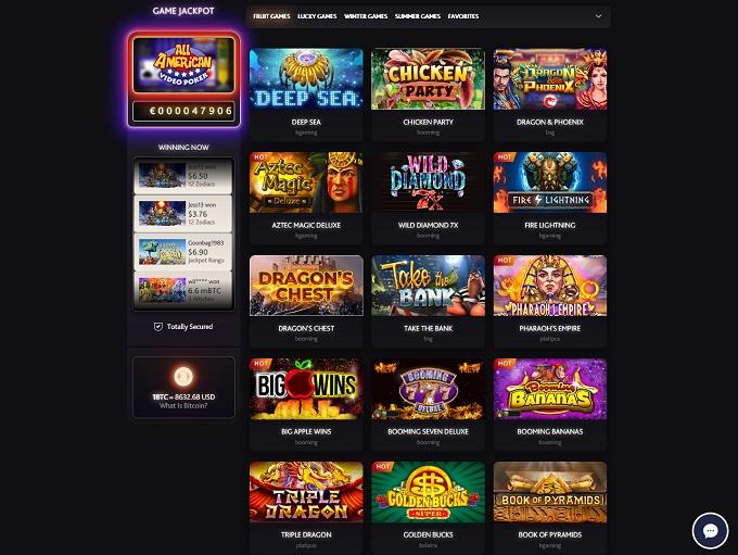 7Bit Casino new lobby