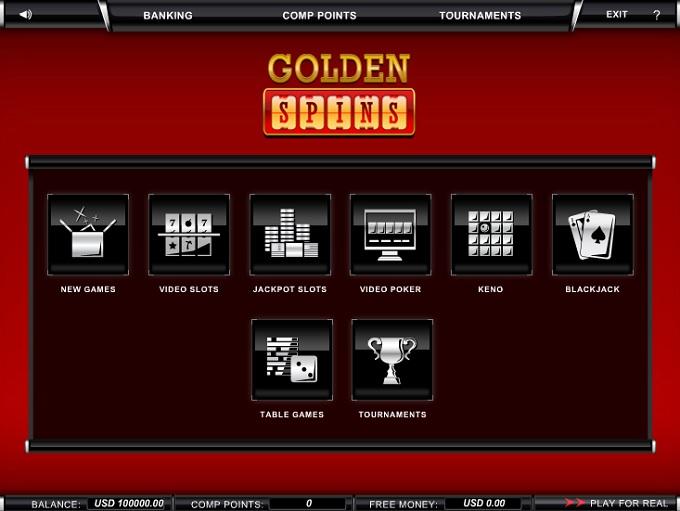 Golden Spins new lobby