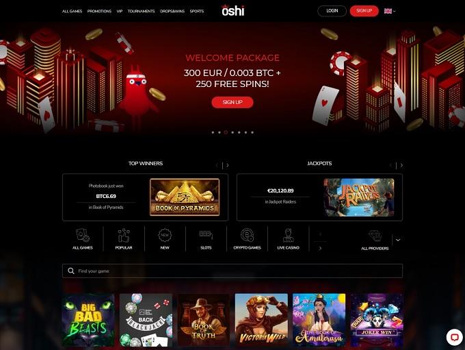 Oshi Casino 13.08.2021. hp