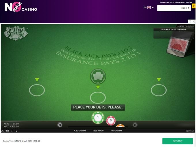 No Bonus Casino 12.03.2021. Game 3