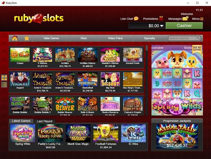 Ruby Slots Casino 19.04.2021. lobby