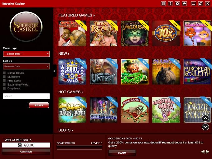 Superior Casino 26.05.2021. lobby