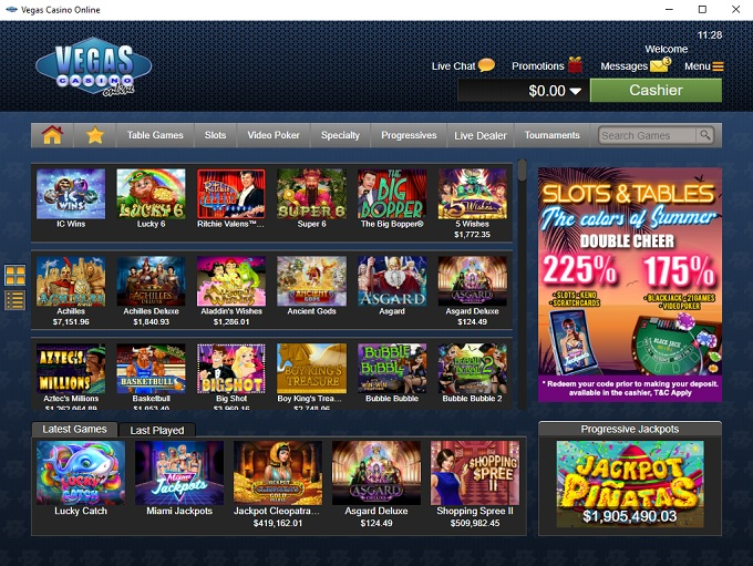 Vegas Casino Online 09.08.2021. lobby