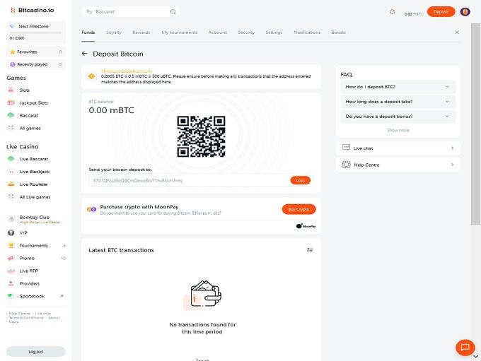 BitCasino.io Bank