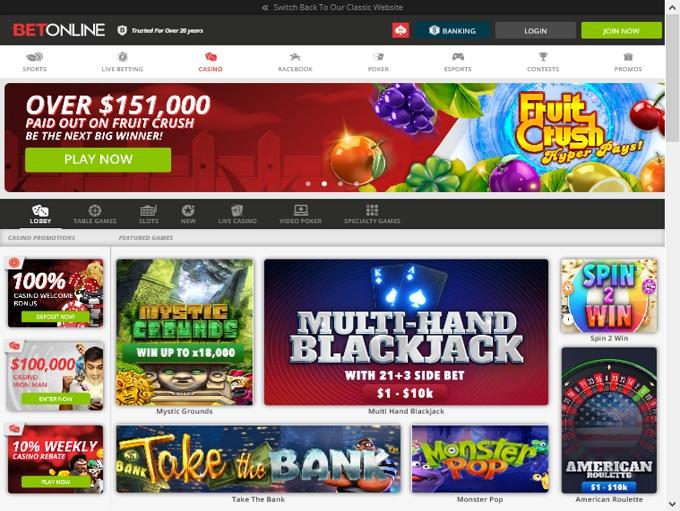 BetOnline Casino Hp
