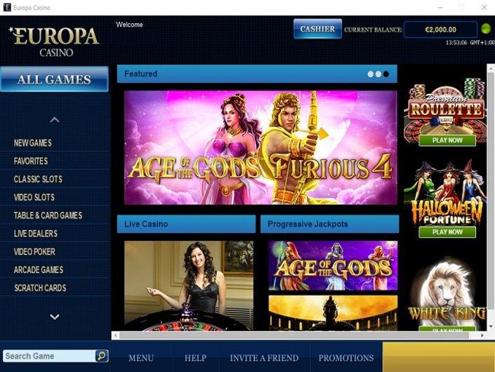 официальный сайт europa casino обзор