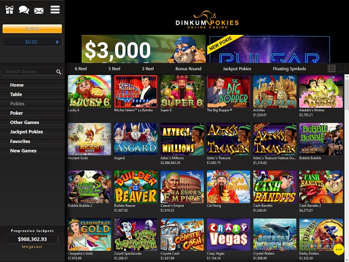 Dinkum Pokies Rated 2 4 Out Of 5 200 Up To Au C 500 Sign Up