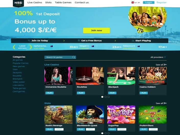 Nissi Online Casino Now Offers Online Roulette Games for Real Money