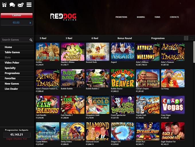 Red Dog Casino Lobby