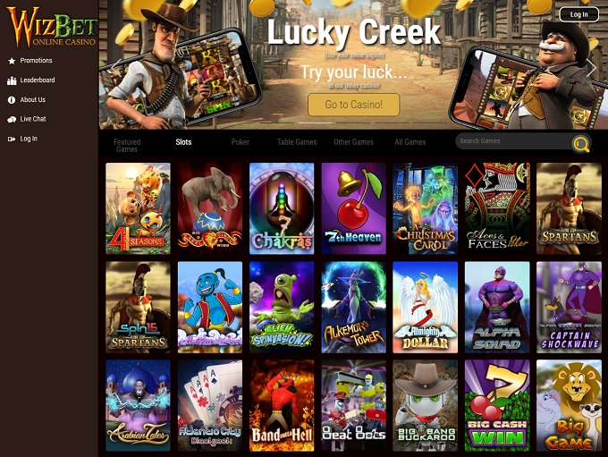 WizBet Casino new home page