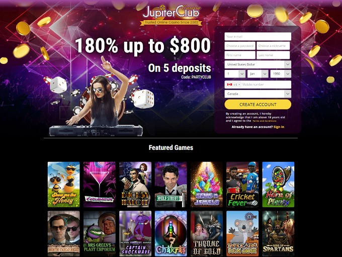 JupiterClub Casino New Hp