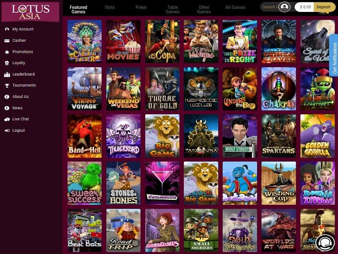 Lotus Asia Casino new lobby