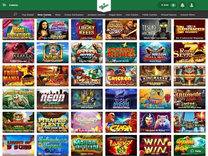 Mr Green Casino nerw lobby
