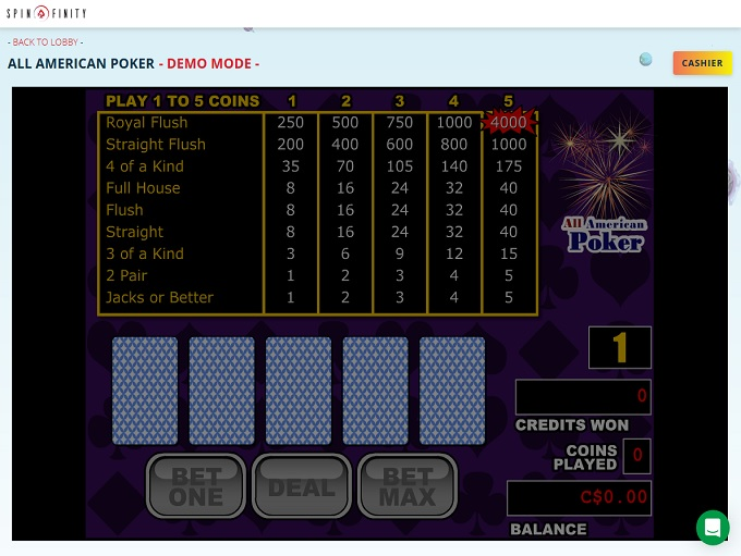 Spinfinity Casino Game 3