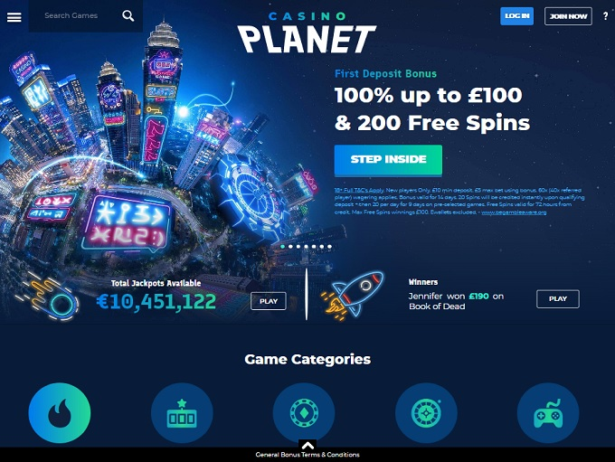 Casino Planet New Hp