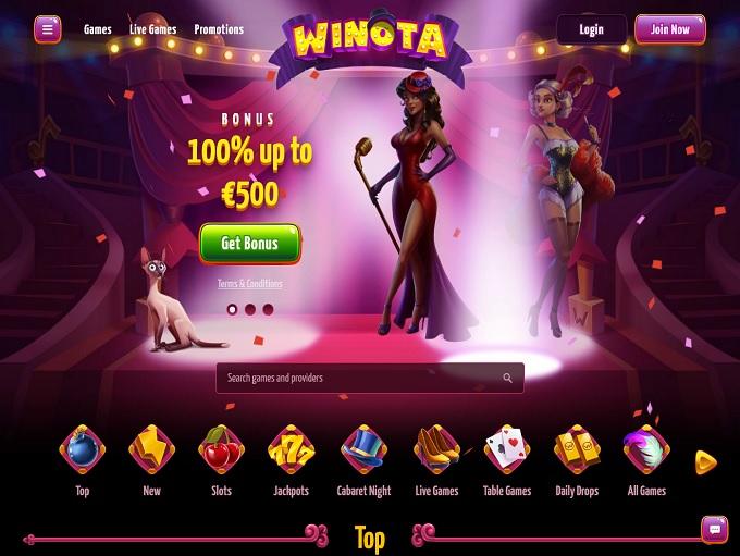 Winota Casino hp