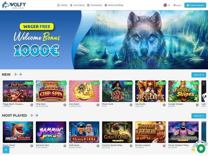 Wolfy Casino hp