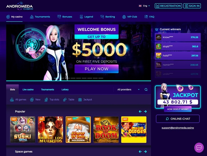 Andromeda Casino hp
