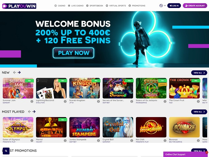 Playouwin Casino 02.09.2021. Hp