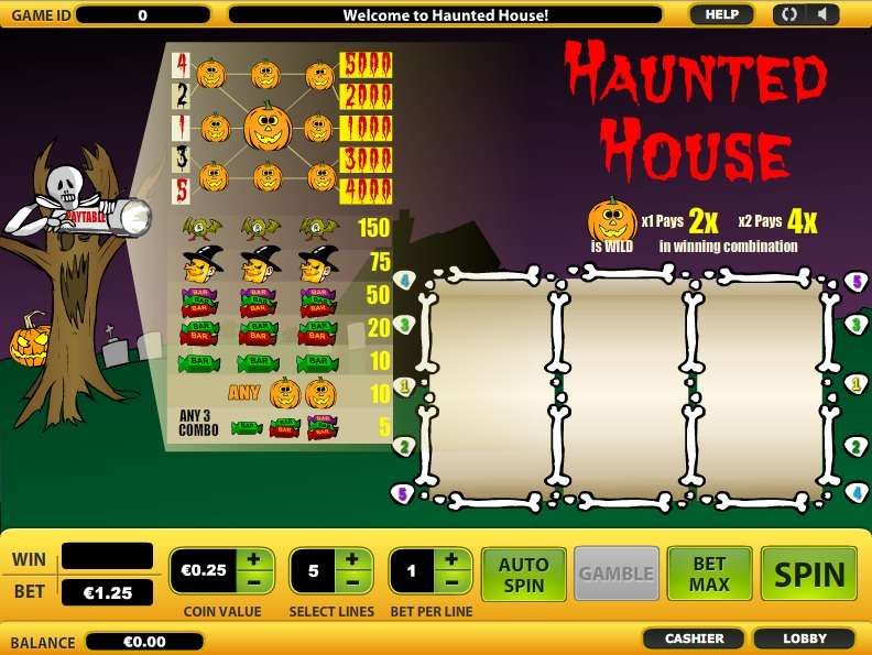Haunted house slot machine download