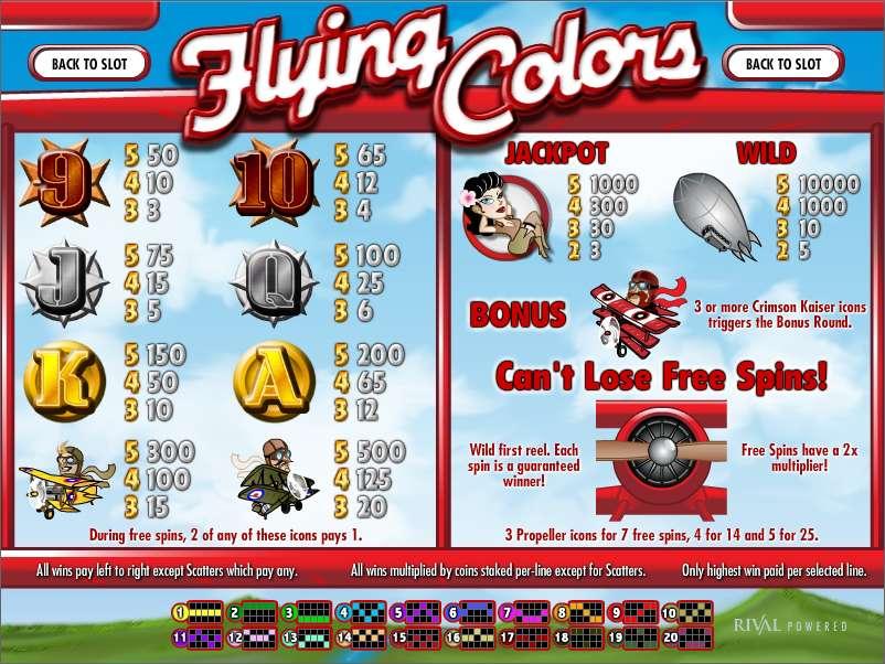 Spiele Flying Colors - Video Slots Online