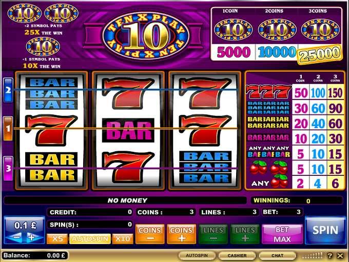 Spiele 10x Play - Video Slots Online