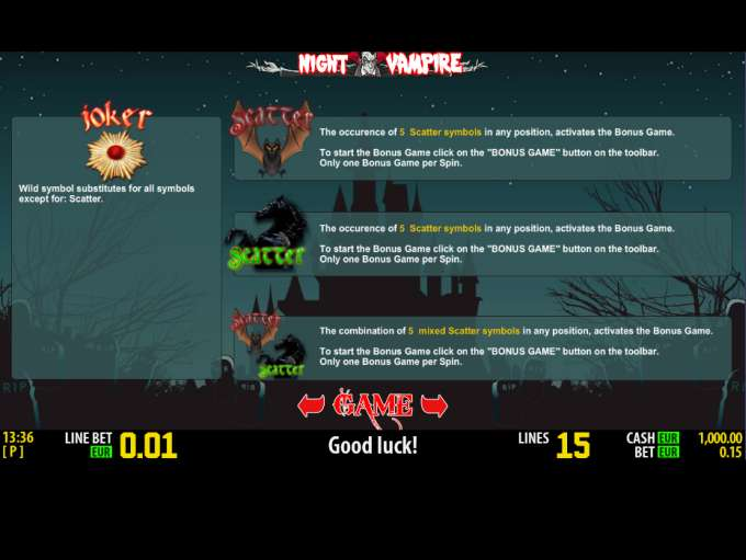 Night vampire slot