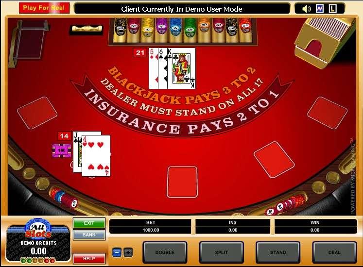 Play High Limit European Blackjack by Microgaming
