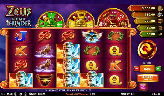 Zeus god of thunder slots play this free slot machine by sg interactive Expense blackjack games