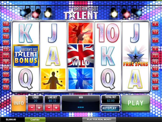 Play Slot Britain S Got Talent By Playtech