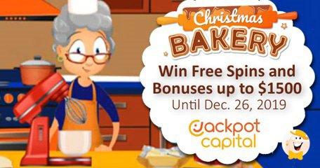 积宝资本(Jackpot Capital)开设圣诞节面包房,额外旋转并提供高达$ 1500的奖金!